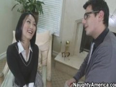 Hot Oriental School Copulates Her Teacher