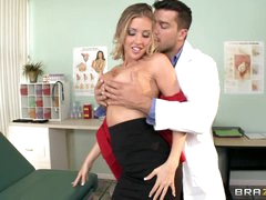 Samantha Saint gives her doctor a once over