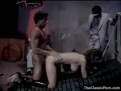 Lustful cutie in collar and leash fucked hard
