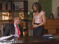 Mischa Brooks is desktop drilled by her hot boss