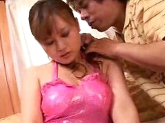 Breasty Japanese Oriental Getting Cookie Soaked by NakedXCamscom