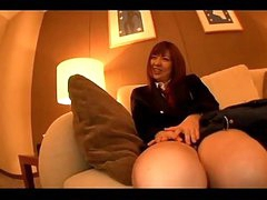 Schoolgirl Licked Squirting Whilst Fingered Giving Blowjob On The Couch In The Hotel Room