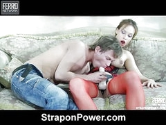 Irene&Silvester strapon abuse movie scene