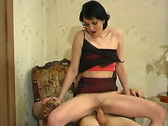 Salacious older hotty chewing down on young dick lust for outrageous banging