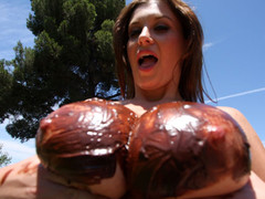 Sara Stone has the almost any outstanding set of biggest freakish natural tits that are just beautiful. This Hottie likes to drink cum right off her biggest tits after a priceless hard fucking. These FREAKISH tits receives u hard instantly during the time that they bounce up and down, and overspread with chocolate frosting...