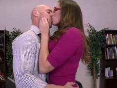 It's Paige Turnah's final day on the job and this babe craves to leave in style. So this babe and her lover lad, Johnny Sins, give a decision to fuck on the boss' desk, drenching his work space with the rich, fragrant smell of her gushing geyser of a snatch! That is, if Milton doesn't make good on his threat to burn this fucking place to the ground.