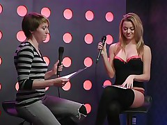 2 hawt gals speak live about sex in a jewish manner. They are broke and trying to buy something, but don`t have enough money. These jokes about sex are indeed turning 'em on. Furthermore looking for Mr. Right, the blonde desires to go down on her girlfriend for some money. This babe takes her bra off, it`s so hot.