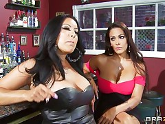 Kiara Mia and Nina Mercedez are 2 sexy MILFs these love to play lesbo often. In a bar, these 2 were alone and their homosexuality jumps out of their cages for a dominating hardcore lesbo love. One of 'em got rough with one greater quantity one and made her to strip, suck mangos & nipples, get ass slapped and wet crack licked.
