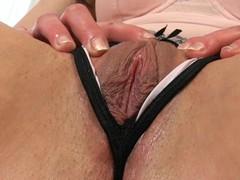 Plowing sweetheart's twat with sex tool always makes her very juicy