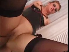 Whore in latex for admirable anal sex