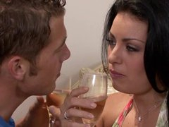 Hawt Brunette Angelica Raven Acquires Screwed and Jizzed On Her Hairy fur pie