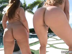 2 large moist asses of your viewing enjoyment